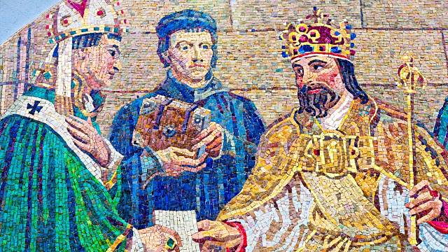 """Počátkem října 1350 král Karel IV. onemocněl. Kronikáři o jeho nemoci psali, že krále zastihla """"bezmocnost všech končetin, která činila dojem ochrnutí rukou i nohou""""."""