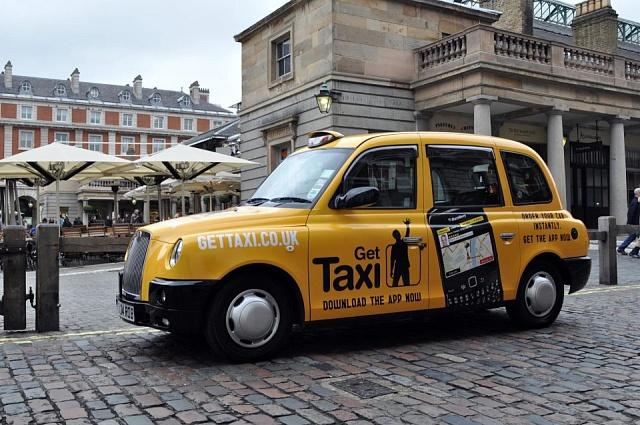 Taxik platformy Gett vLondýně