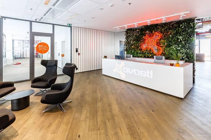 Nové kanceláře firmy Avast / recepce.
