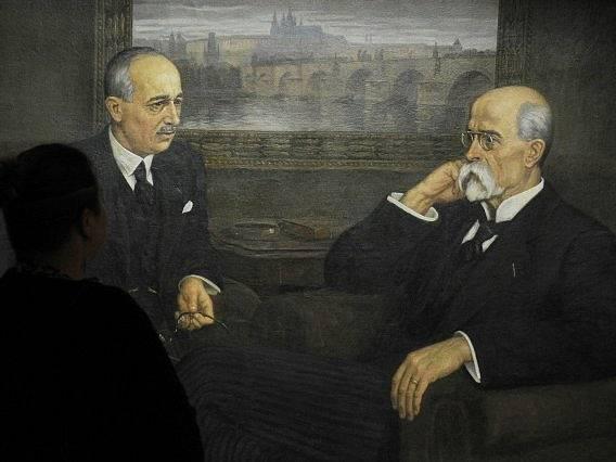 Edvard Beneš a Tomáš Garrigue Masaryk.
