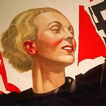Nacistický plakát lákající mladé ženy k službě vlasti