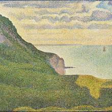 Georges Seurat - Mořská krajina v Normandii