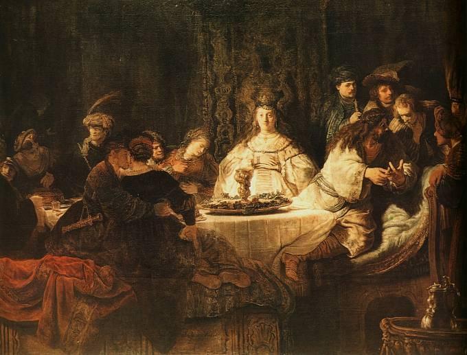 Rembrandt van Rijn: Samson na svatbě, 1638