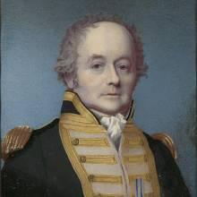 William Bligh v uniformě britského viceadmirála