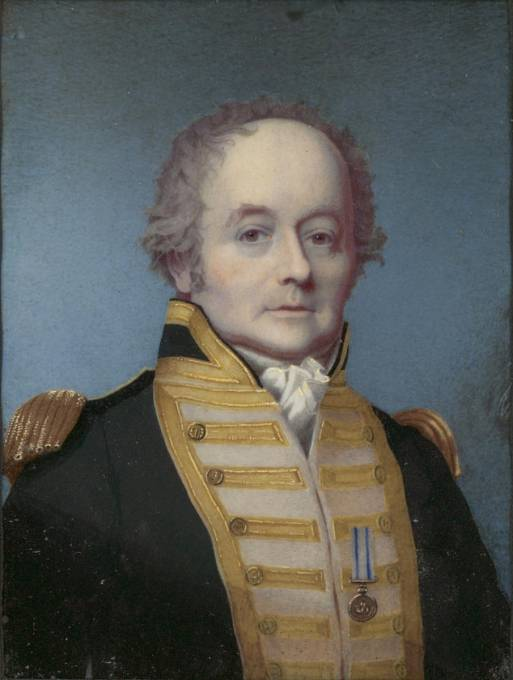 William Bligh v uniformě britského viceadmirála