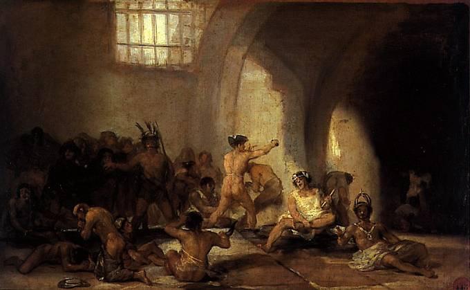 Goyův obraz: Dům bláznů