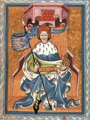 Přemysl Otakar jako moravský markrabě (Gelnhausenův kodex)
