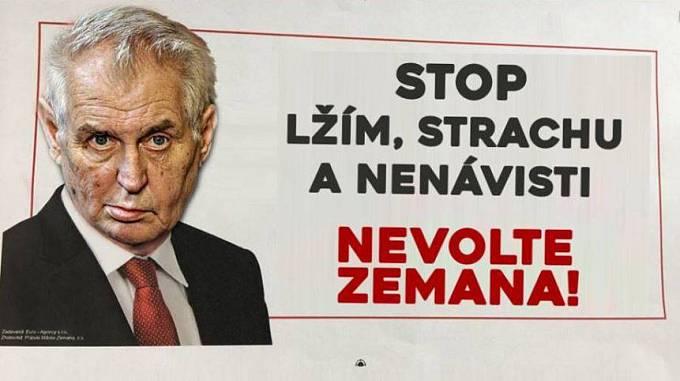 Agresivní kampaň Spolku přátel Miloše Zemana vyvolala tvorbu ironických memů
