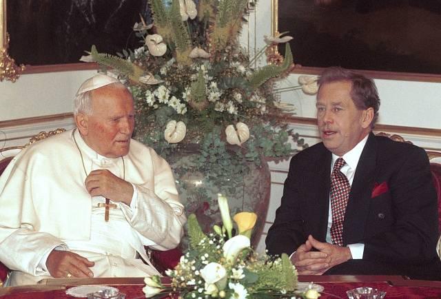 Jan Pavel II. s Václavem Havlem