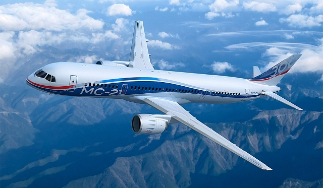 Nové ruské letadlo MC-21