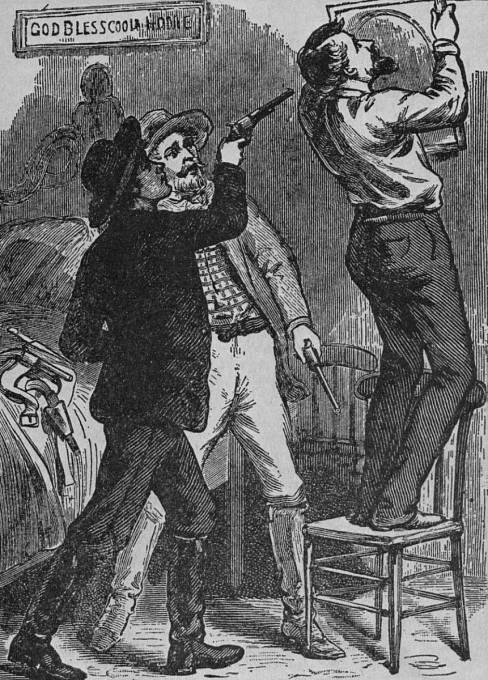 Tradovaná verze Jamesovy smrti. Ve skutečnosti prý obraz jen oprašoval