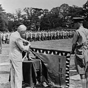Karel Klapálek s československým prezidentem Edvardem Benešem a s Antonínen Hasalem u československé jednotky v exilu