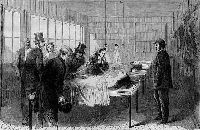 Identifikace mrtvých se stala pro Pařížany specifickou zábavou.