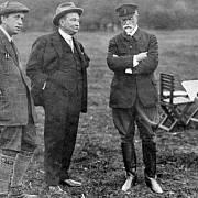 Setkání Jaroslava Preisse (uprostřed), T. G. Masaryka a Karla Čapka