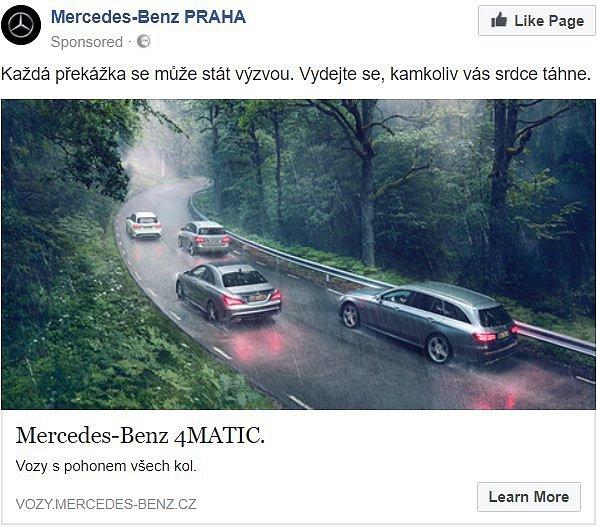 Mercedes-Benz propaguje jízdu v protisměru do zatáčky
