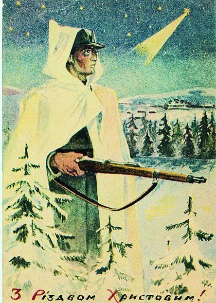 vánoční pohlednice UPA