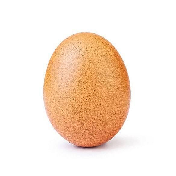 Nejpopulárnějším příspěvkem na instagramu se v lednu 2019 stalo obyčejné vejce