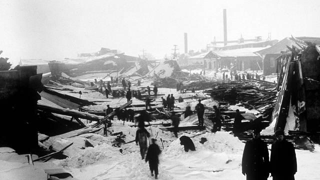 Výbuch v Halifaxu vymazal přístav z mapy