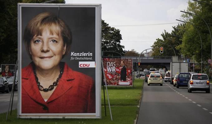 Předvolební plakát Angely Merkelové, září 2012