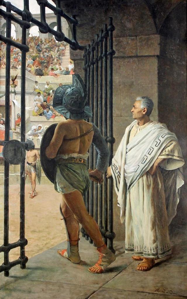 Gladiator. Malba od Nicolaa Landucciho, 1801-1868