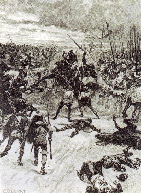 Smrt Jana Lucemburského, obraz Charlese Édouarda Delorta