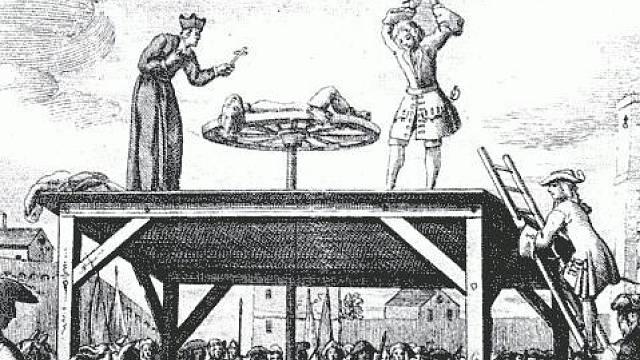 Lámání kolem bylo oblíbenou mučicí technikou nejen ve Francii, Itálii a Německu, ale i u nás.