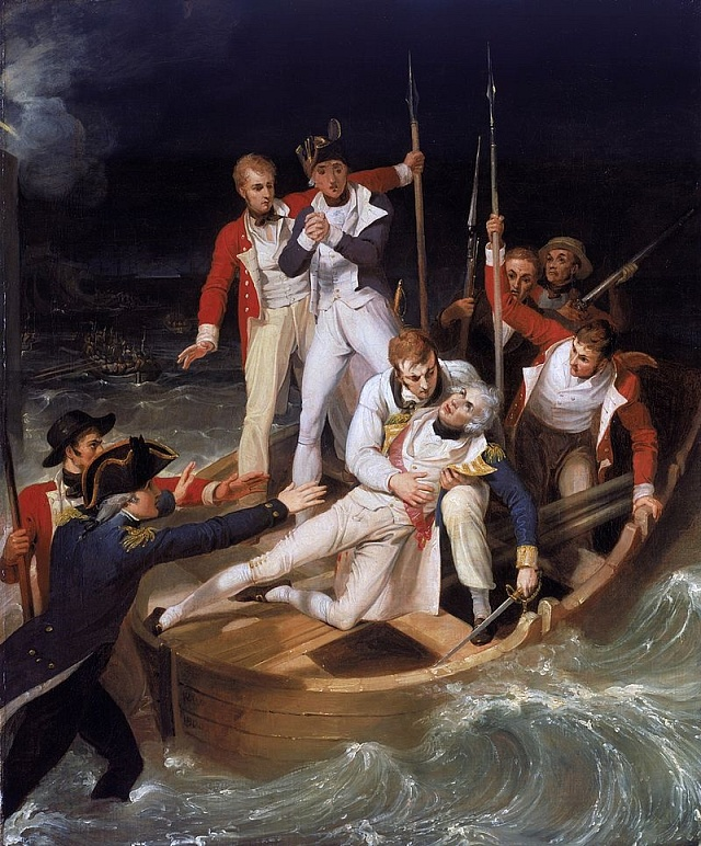 Admirál Horatio Nelson po zranění na Tenerife