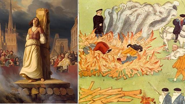 Upalování ve středověku