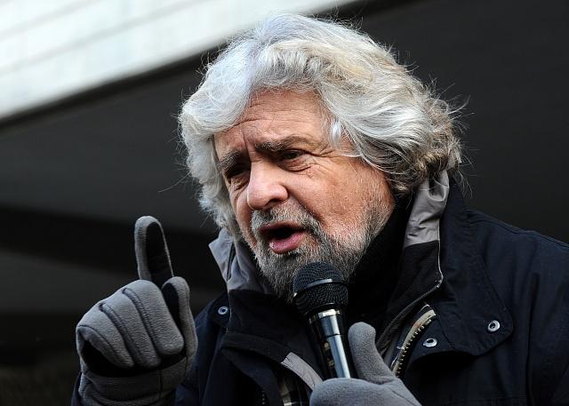 Zakladatel hnutí Movimento 5Stelle, komik Beppe Grillo