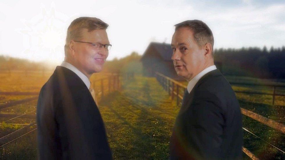 Záběry z nové reklamy koalice Lidovci a starostové
