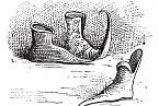 Muži se předháněli, kdo měl delší špičky bot.