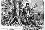 John White po návratu na ostrov Roanoke