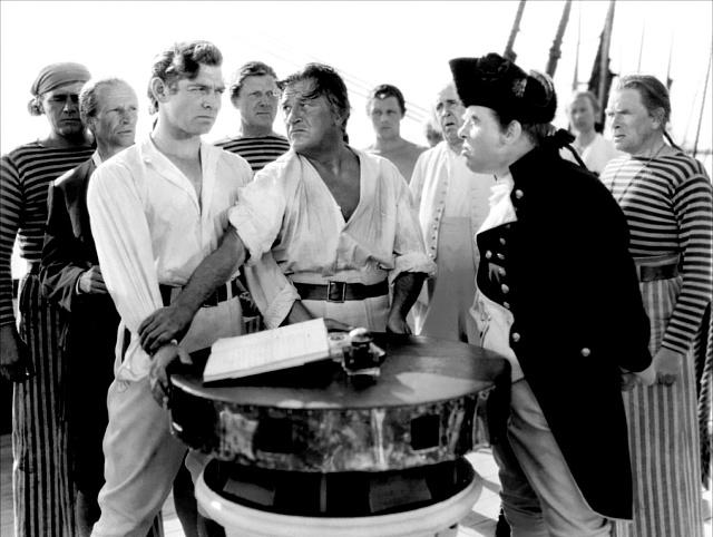 Scéna ze stejnojmenného filmu ovzpouře na lodi Bounty