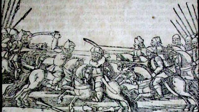 Bitva na Moravském poli v kronice Václava Hájka z Libočan