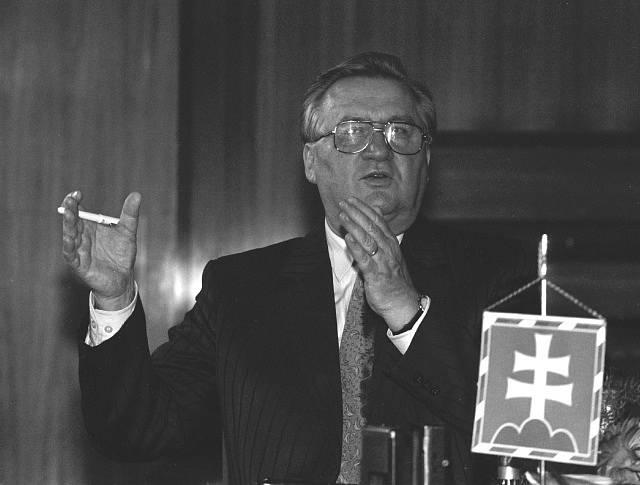 První prezident samostatné Slovenské republiky Michal Kováč