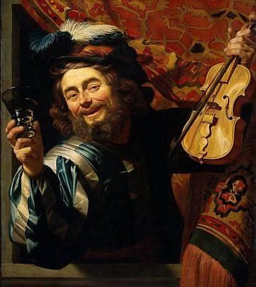Veselý houslista od Gerrita van Honthorsta