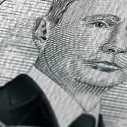 Portrét Vladimira Putina na fiktivní bankovce.