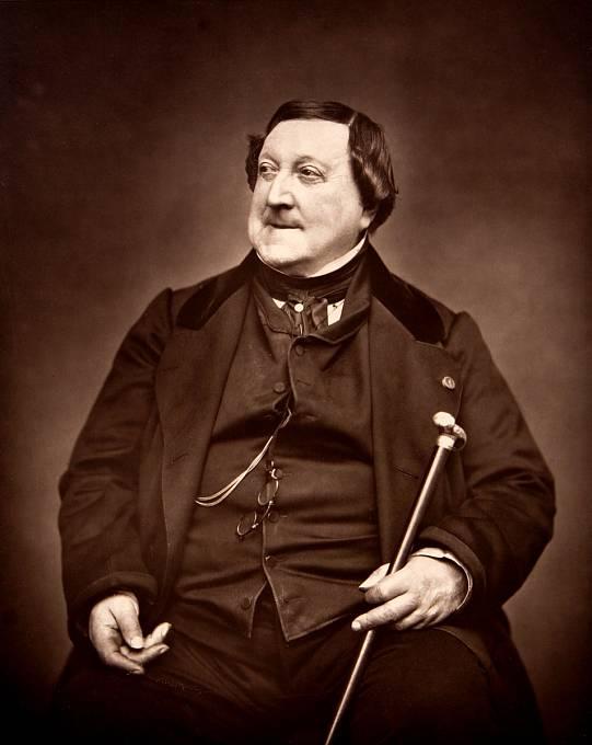Gioachino Rossini, italský skladatel, jenž měl údajně z pátku třináctého celoživotní obavy. A oprávněně, během jednoho z nich totiž zemřel.