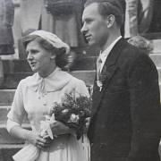 Eva Žárská, rozená Lukášová, svatební foto