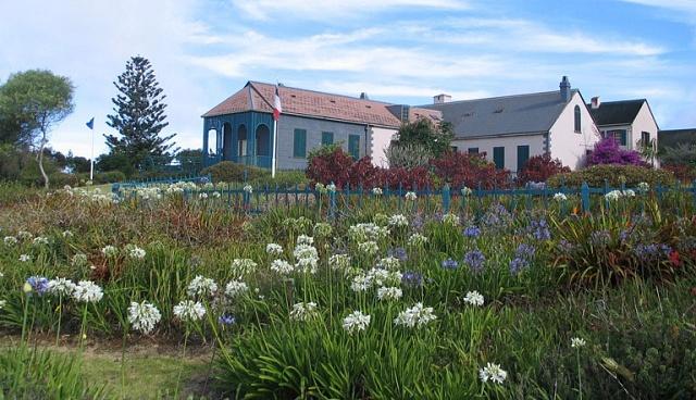 Napoleonův dům Longwood House na britském ostrově Svatá Helena vjižním Atlantiku