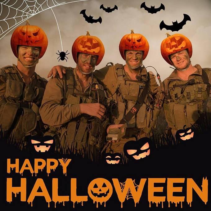 Izraelští vojáci přejí veselý Halloween