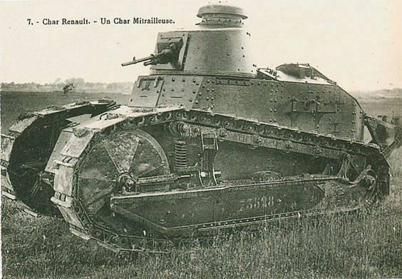 Francouzský tank značky Renault z první světové války