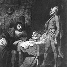 Faust a Mefisto (autor Tony Johannot)