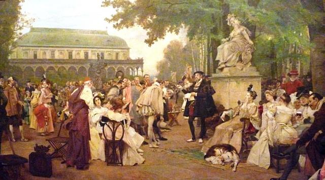 Václav Brožík: Císař Ferdinand I. na Pražském hradě mezi svými umělci (1901)