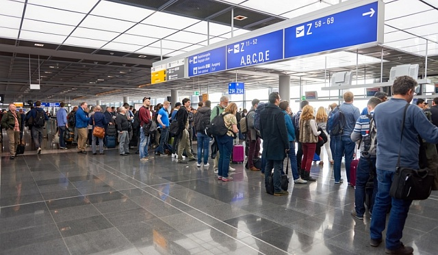 Jedno z nejrušnějších letišť v Evropě. Frankfurt nad Mohanem.