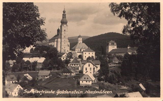 Městečko Branná na Jesenicku vroce 1935