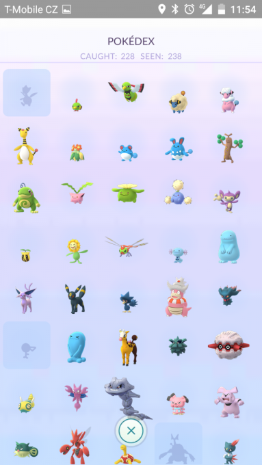 vzorek ze sbírky pokémonů