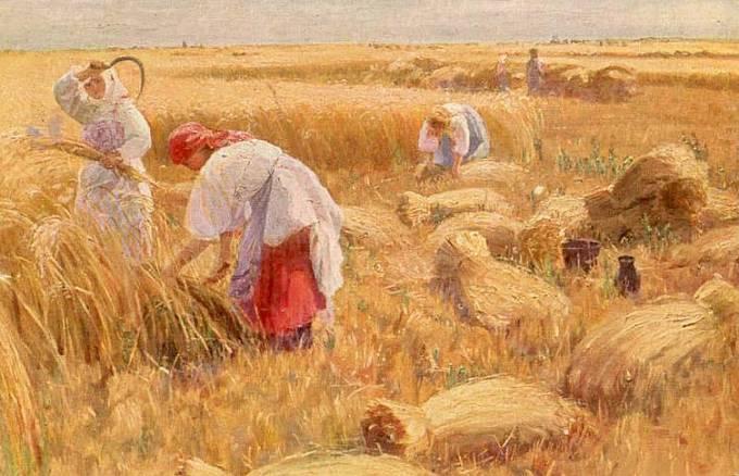 F. Sychkov. Strada (žně), 1910