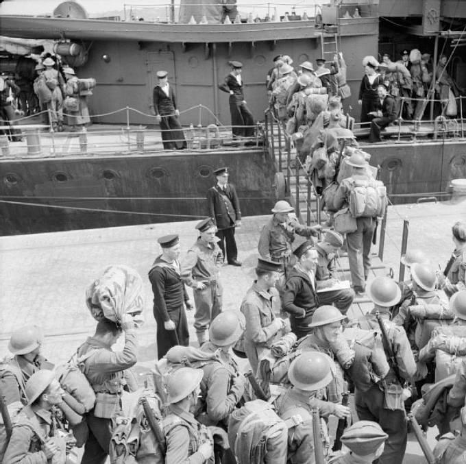 evakuace Britů z Dunkerque