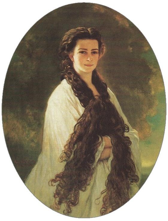 Císařovnu Sisi proslavily dlouhé husté vlasy.
